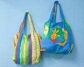 Crazy Fruit - Grocery Market Tote Bags Set of 2 - Tote2Go Double Shoppers