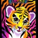 Lisa Frank My Sticker Collection Album Book Forrest the Tiger Cub