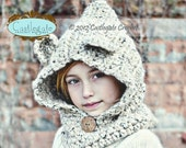Hooded Bear Cowl - Pick Your Color