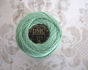 SIZE 8 DMC 954 Nile Green Perle Cotton Thread Ball