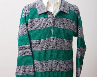 Men's Medium Vintage Striped Sweater