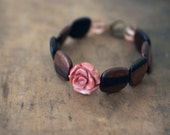 RESERVED - Ebony Rose Bracelet