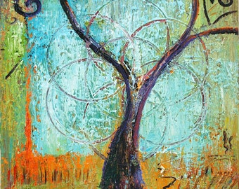 "Small Print Tree Art ""Heart Tree"""