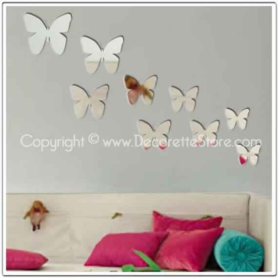 Mirror Wall Decals - Butterflies