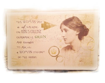 Virginia Woolf Card, Literature Card, Mrs. Dalloway, To the Lighthouse, Feminism card, Women in Literature, Author Card, Blank Gift Card