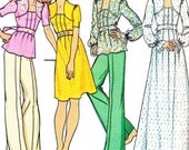 1970s Dress Pattern Tie Back Tunic McCalls 4360 Womens Boho Tie Back Maxi or Midi Dress Tunic Vintage Sewing Pattern Bust 33