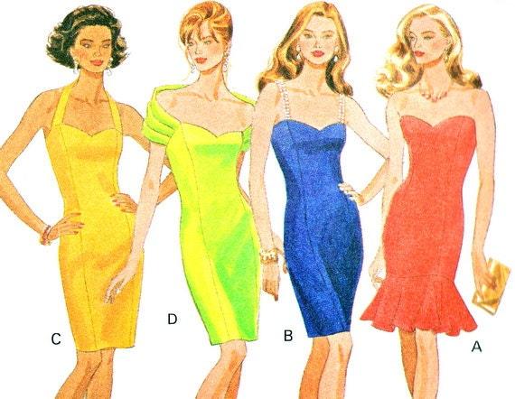1990s Evening Dress Pattern Butterick 6161 by NeenerbeenerKnits