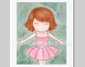 Ballerina nursery decor - girl nursery wall decor - girl nursery decor - ballet - tutu - little girls room decor - Let's Dance - red hair