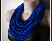Blue Infinity Multi Strand T shirt Jersey Scarf