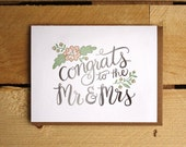 Congrats to Mr. & Mrs. Letterpress Card