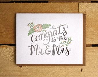 Congrats to Mr. & Mrs. Letterpress Card