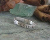 Inside and Out hand stamped Personalized stackable stacking rings...sterling silver stacking rings.