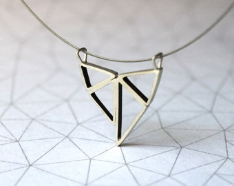 Compound Triangles Pendant - Necklace - Sterling Silver