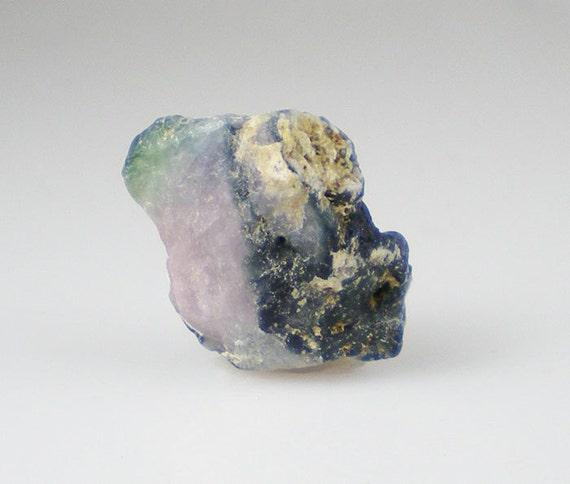 Pink & Green Tourmaline Rough Gemstone Reiki Healing Natural