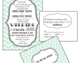 Funky Frame Wedding Invitation Suite