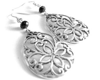 Flower Vine Drop Earrings
