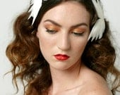 20% off Bridal headpiece, heavenly feather wings, set of 2