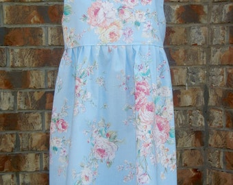 "Shabby Chic dress, Vintage rose style dress, ""Lucy"" dress, Size 4/5 ready to ship"