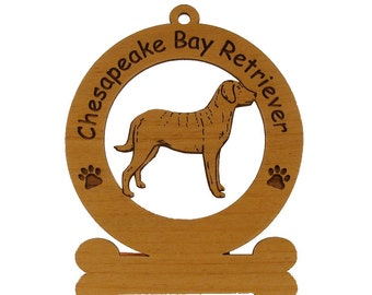 2094 Chessie Standing Personalized Wood Ornament