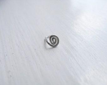 Spiral Nose Stud Sterling Silver