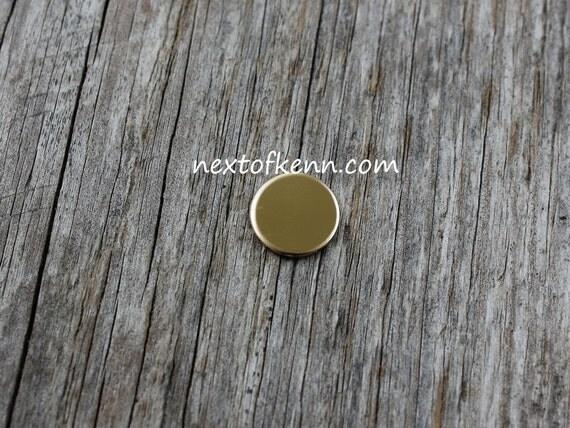 5 Pack 3/8 inch 20 Gauge Gold Fill Round Circle Discs Jewelry Stamping Supplies