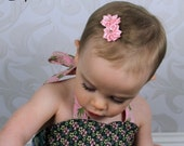 Baby Non Slip Hair Clips - Infant Hair Snap Clips - Mini No-Slip Clippies - Petite Satin Baby Flower Hair Bows - Pink/Red/Black U-Pick