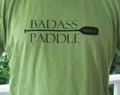 Men's Kayak T Shirt - Badass With A Paddle