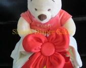 Diaper Cake, Disney Licensed, Plush Winnie the Pooh, Stork Bundle, Baby Gift, Baby Shower, Centerpiece