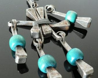 vintage 1960s 1970s modernist necklace pendant/ mid century modern abstract custom studio  jewelry