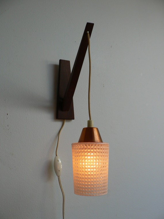Reserved For Maria 1950s Danish Modern Wood Swag Pendant Light