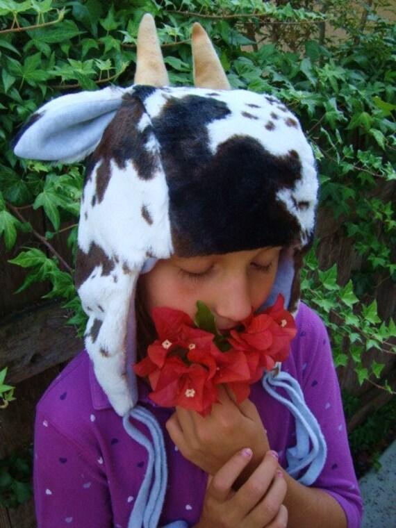 Goat Hat, soft warm earflap animal