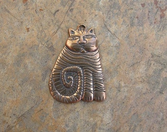 Bronze Cheshire Cat Pendant
