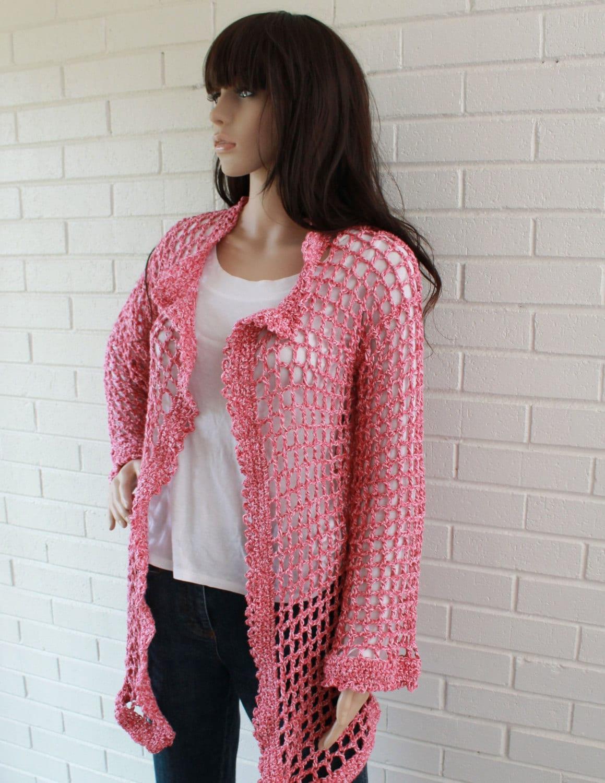 Super Easy Filet Cardigan Crochet Pattern PDF