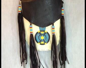 Vintage Native American Indian Art Bag Purse Wall Hanging