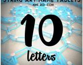 Modern String Art Wooden Name Tablet - 10 letters