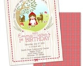Little Red Riding Hood Birthday Printable Party Invitation or Baby Shower Printing Available