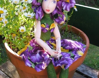 e-Pattern - Bryony - a flower doll