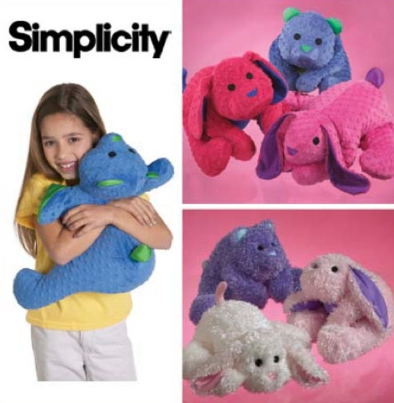 Animal Pillow Patterns To Sew : Micro Bead ANIMAL PILLOW Sewing Pattern Squeezable Soft