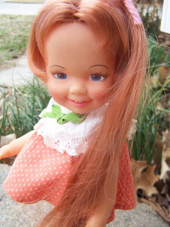 Vintage Toy , Crissy Family Doll Cinnamon in original clothing and shoes