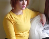 Daffodil Yellow Crop Top (xs) // Totally Rad 80s 90s Vintage Chic // Retro Cool // Cropped T Shirt - HamsterdamVintage
