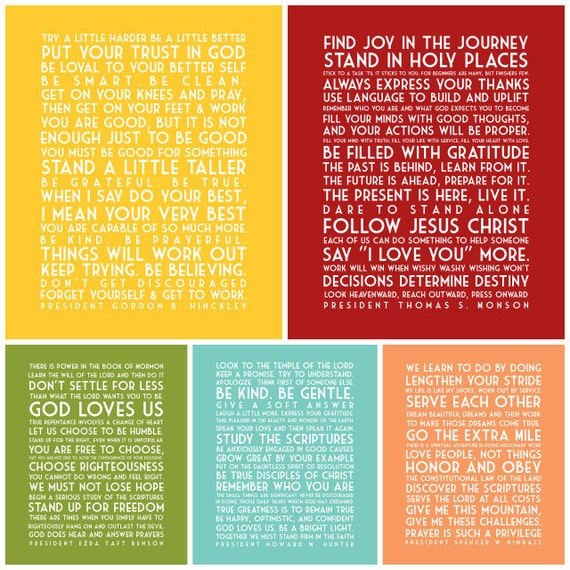 Words of the Prophets - Subway Art - Instant Download