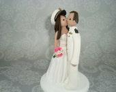 Bride & Groom Customized Military Wedding Cake Topper