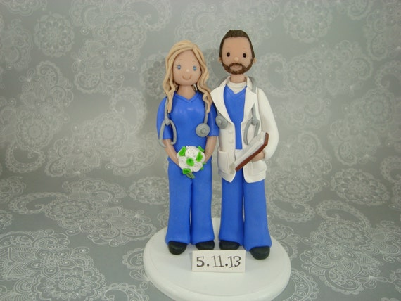 Wedding Cake Topper Doctor Customized Nurse