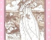 Folkwear Vintage Pattern 201 Authentic American Prairie Dress and Apron 1980s Wild West Steampunk
