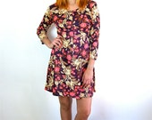 Pretty Floral 70's Day Dress