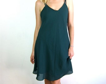 Sheer and Pretty Green 90's Dress