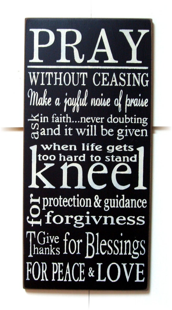 Pray without ceasing typography wood sign by woodsignsbypatti for Pray without ceasing coloring page