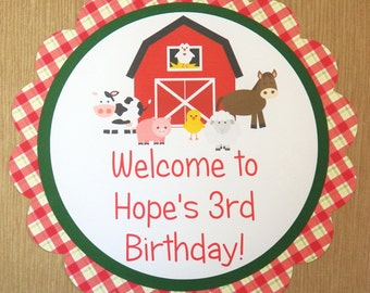 Party Sign - Customized Farm Party Decor by The Birthday House
