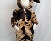 Child Size 2T/3 Chocolate Brown Cow Costume