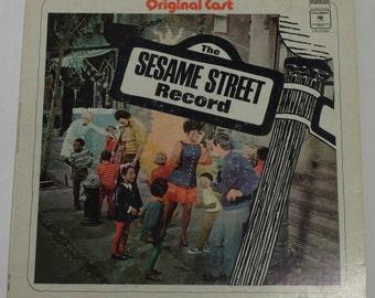 The Sesame Street Record Vinyl LP 1970 w/ I Love Trash & Rubber Duckie